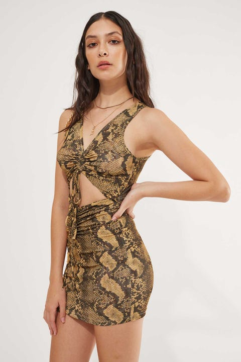 BY.DYLN Levi Dress Snake