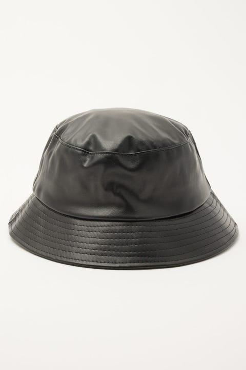Token PU Bucket Hat Black