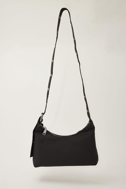 Token Nylon Crossbody Bag Black