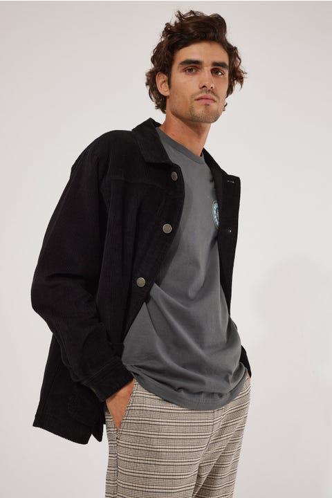 Common Need Cord Chore Jacket Black