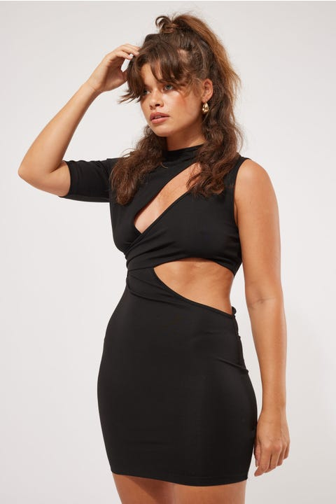 Lioness Wylde Mini Dress Black