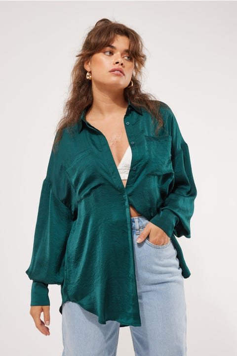 Lioness The Carrie Shirt Forest Green