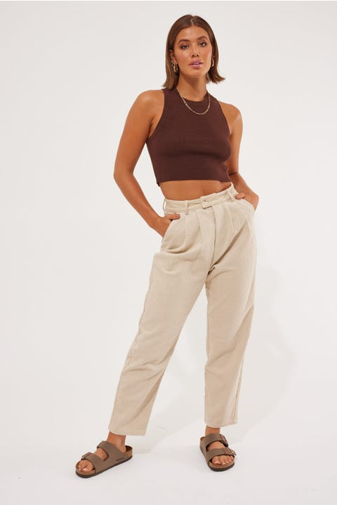 Luck & Trouble Izi Cord Pant Taupe