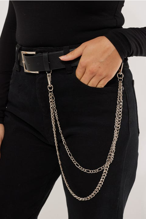Token Ryder Chain Belt Black/Silver