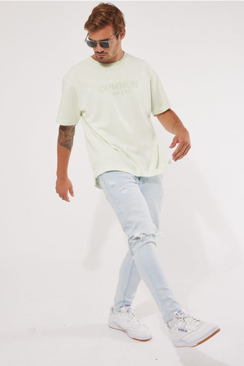 Common Need Calm Boxy Tee Washed Mint