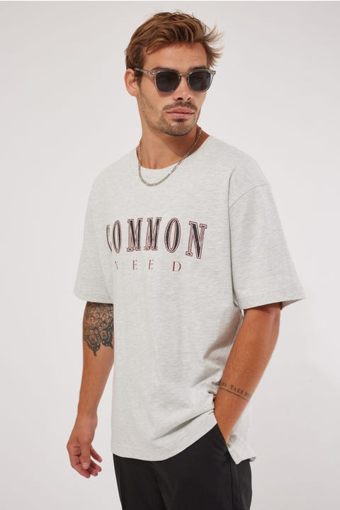Common Need Academic Boxy Tee Grey Marle