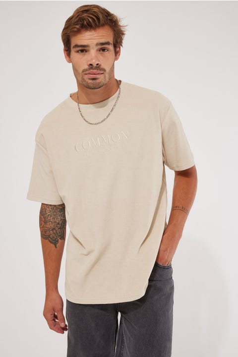 Common Need Terry Towelling Tee Washed Stone