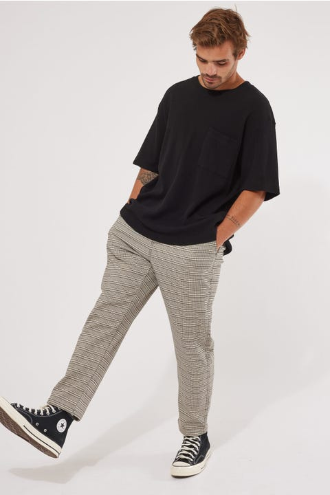 Common Need Shoreditch Pant Black/Cream Check