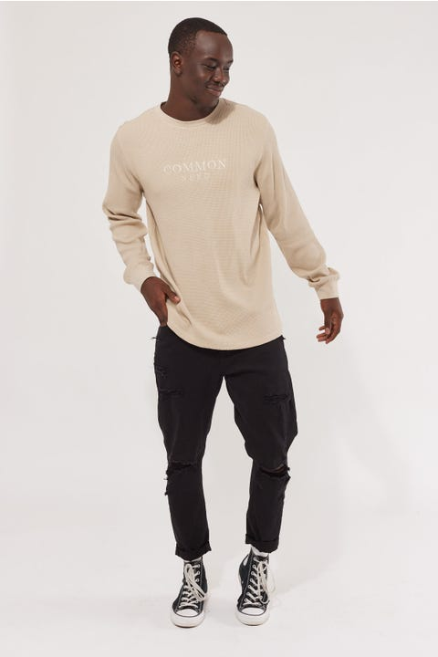 Common Need Embro Comfort Longsleeve Tee Taupe
