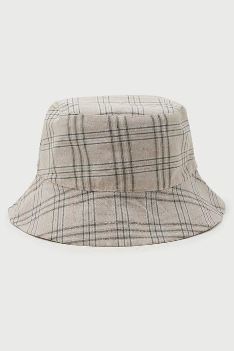 Token Reversible Bucket Hat Black/Check