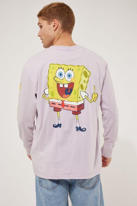 Tommy Jeans TJU x Spongebob LS Tee Lilac Dawn