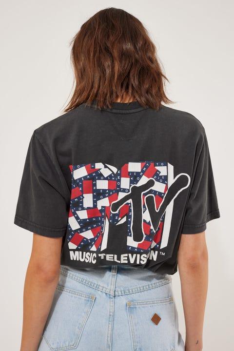 Tommy Jeans TJU x MTV1 Tee Blackout