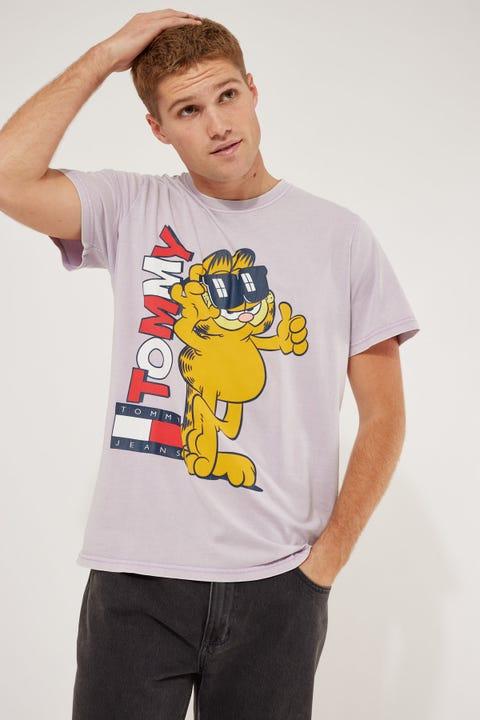Tommy Jeans TJU x Garfield1 Tee Lilac Dawn