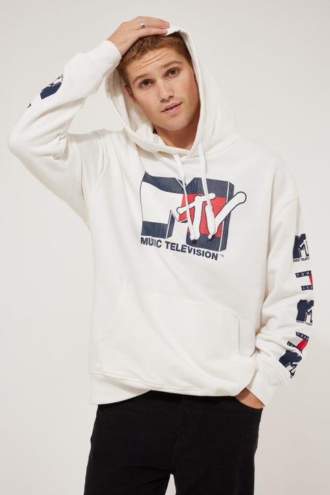 Tommy Jeans TJU x MTV Hoodie Ivory Silk