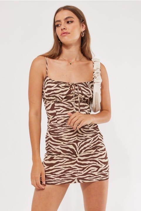 Perfect Stranger Zani Mini Dress Zebra