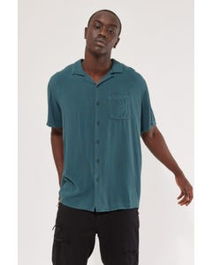 Common Need Pivot Resort Collar Shirt Teal