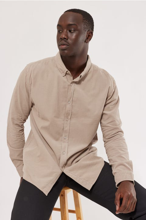 Common Need Garcia Thin Cord Shirt Stone