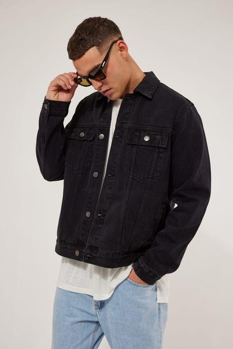 Common Need Phoenix Denim Jacket Washed Black