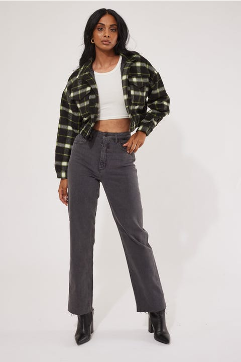 Luck & Trouble Hoxton Check Trucker Black Check