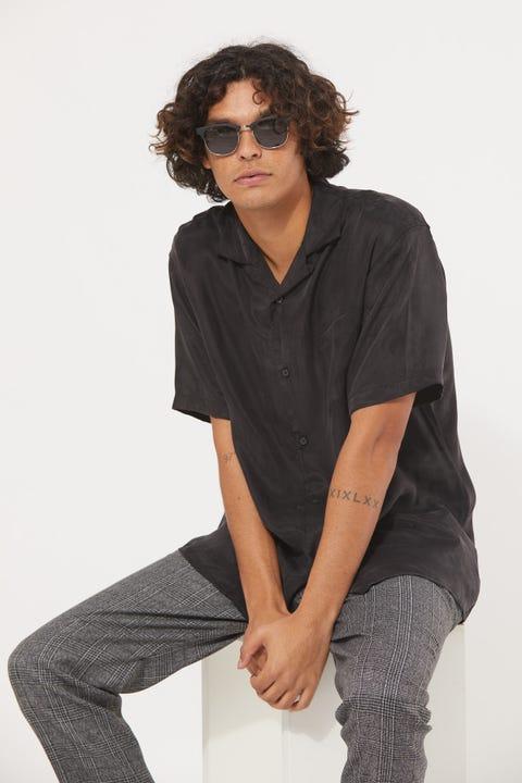 Common Need Franco Resort Collar Shirt Black