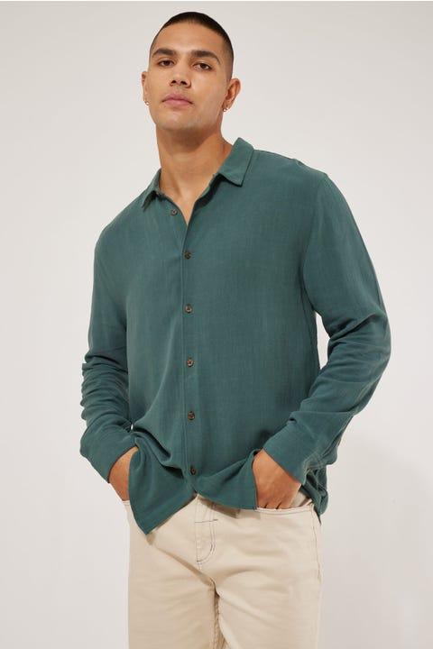 Common Need Raymond Slim Shirt Teal