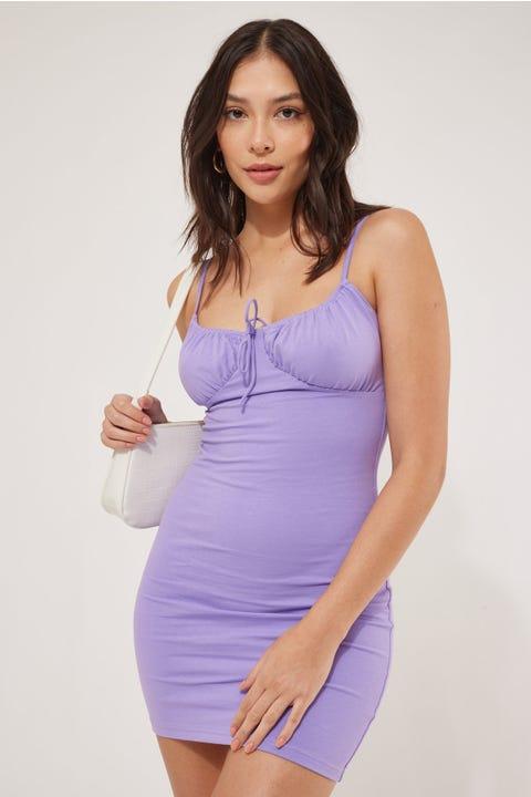 Luck & Trouble Cool Girl Mini Dress Lilac