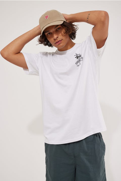 Stussy Jamaica World Tribe Tee Solid White
