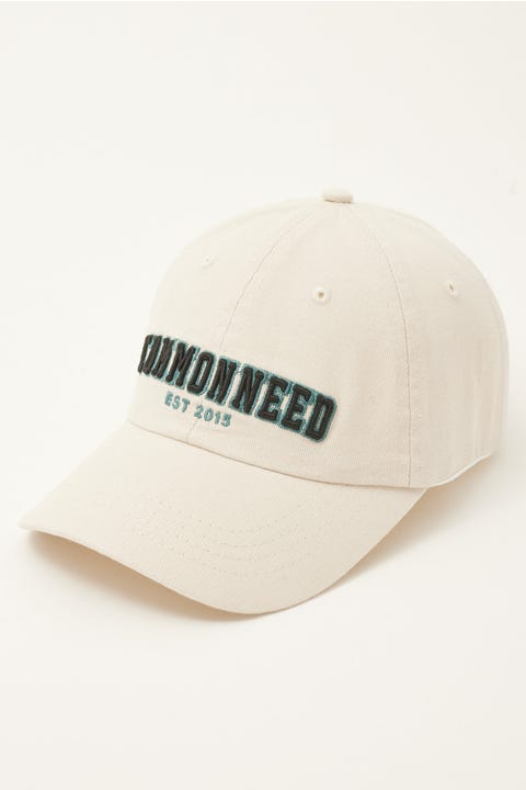 Common Need Collegiate Dad Cap Off White