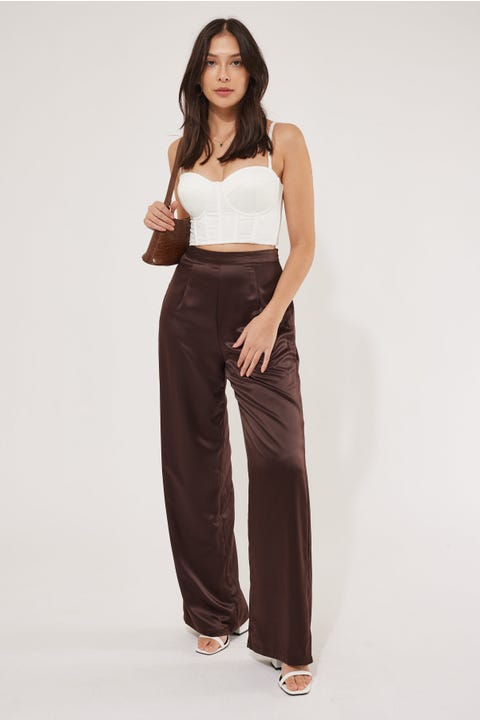 Luck & Trouble After Party Dressy Pant Brown