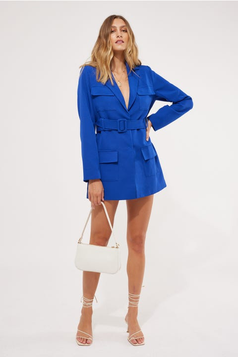 Lioness Steinway Mini Dress Cobalt