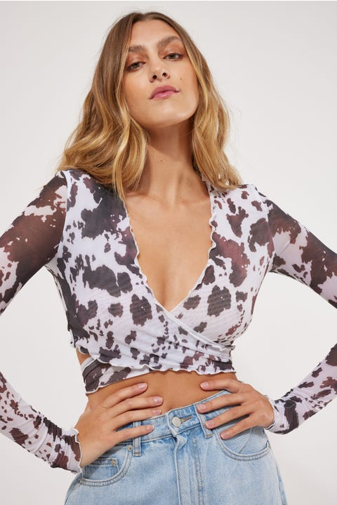 Lioness The Kendall Mesh Crop Cow