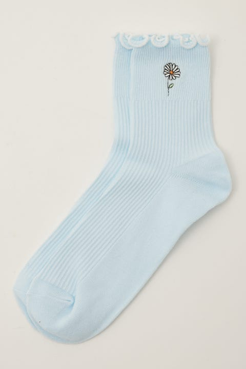 Token Flower Dion Sock Blue