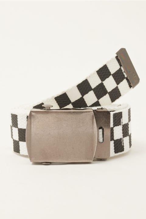 Neovision Checkerboard Web Belt Black & White