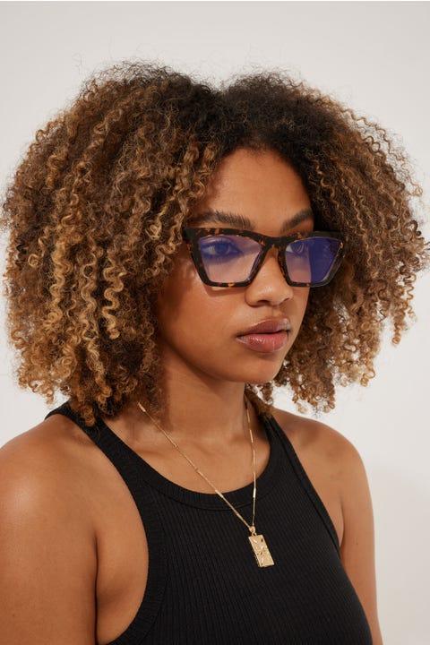 Reality Eyewear Lizette Turtle Blue Light