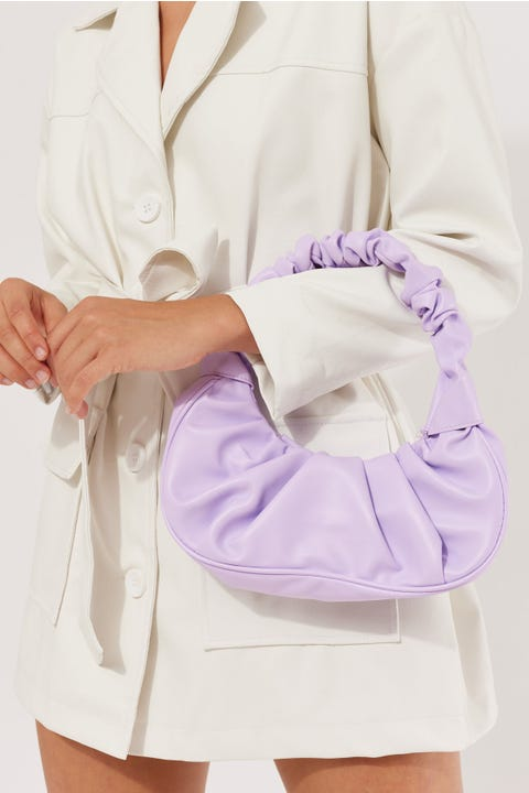 Token Scrunchie Bag Lilac
