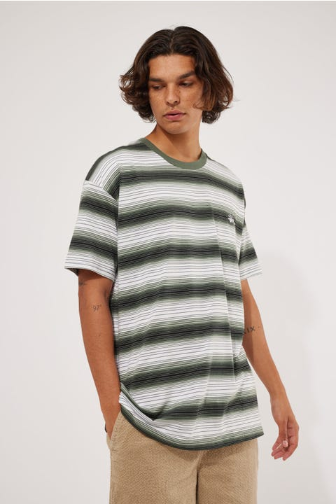 Stussy Gradient Graffiti YD Tee Flight Green