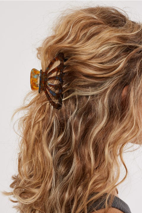 Token Dazzle Hair Claw Brown/Blue