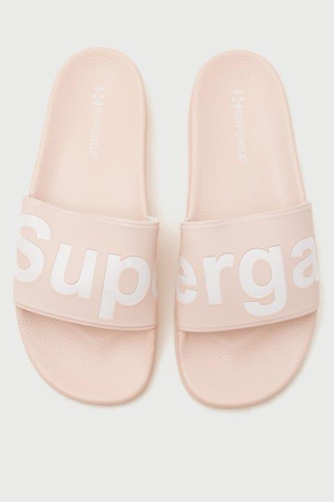 Superga 1908 PUU Slides Pink Skin/White