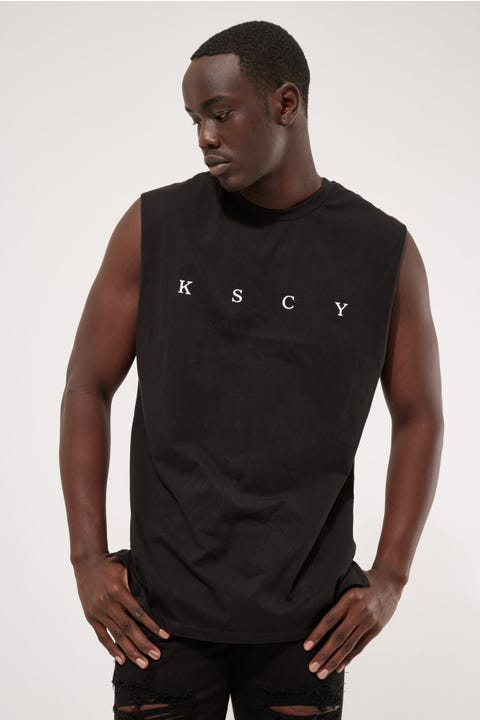 Kiss Chacey Apex Step Hem Muscle Jet Black