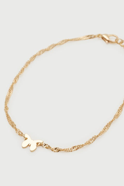 Token Butterfly Anklet Gold