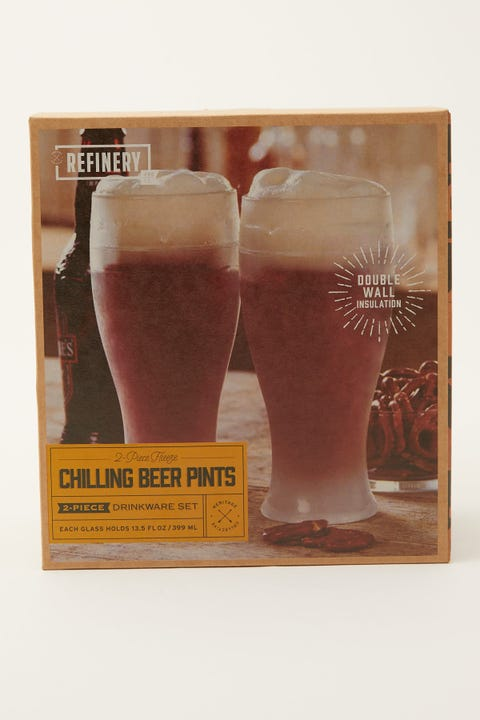 Refinery And Co Beer Glass Pint Cooling 2 Pack
