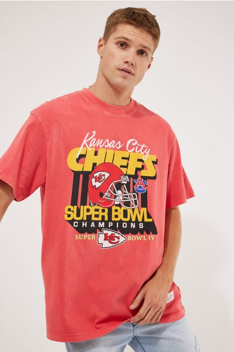 Mitchell & Ness Chiefs Vintage Superbowl Tee Faded Red