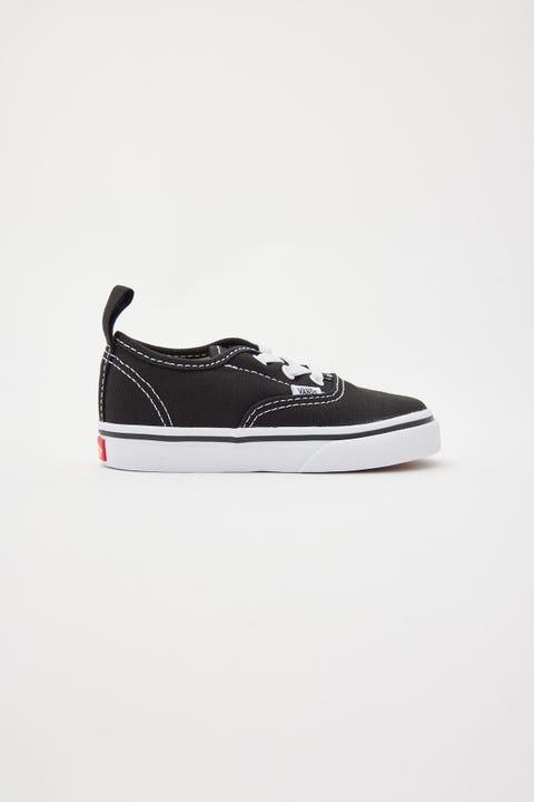 Vans Authentic Elastic Lace Toddler Black/White