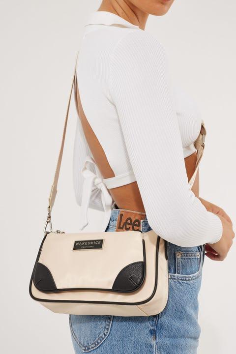 Nakedvice The Hunter Nylon Side Bag Cream