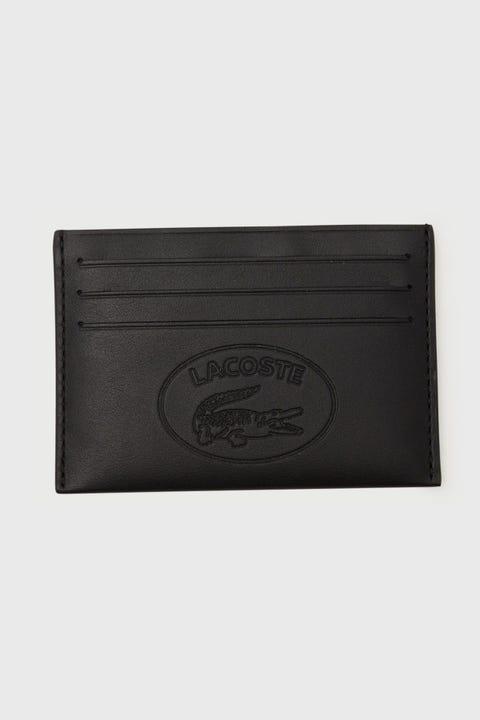 Lacoste L.12.12 Cuir Credit Card Holder Black