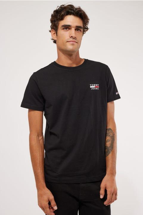Tommy Jeans TJM Chest Logo Tee Black