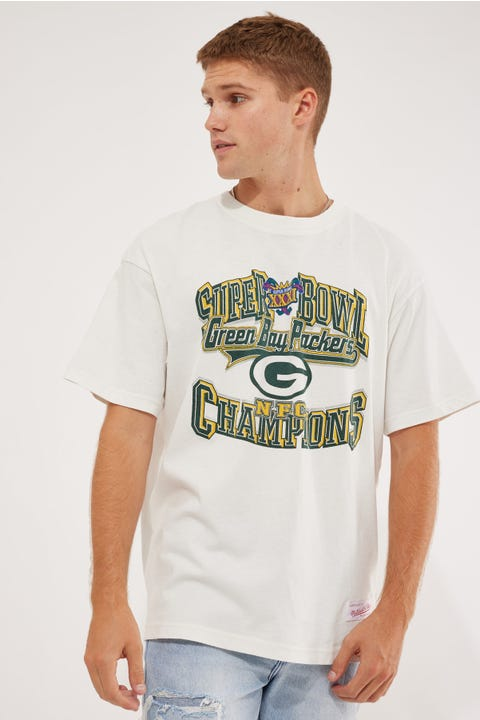 Mitchell & Ness Packers Vintage Superbowl Tee Vintage White