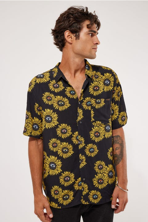 Wrangler Garageland Shirt Black Eye Flora