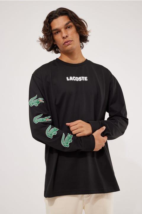 Lacoste Croc Jersey LS Tee Black