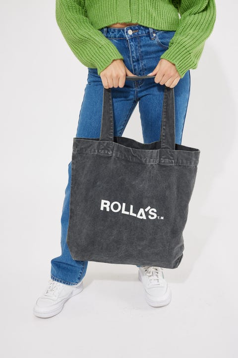 Rolla's Rolling Stone Tote Washed Black